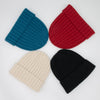 Blue, red, white and black chunky cashmere beanie