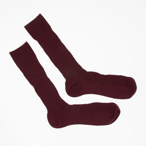 Long burgundy socks
