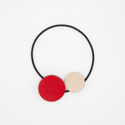 Leather Circles Choker
