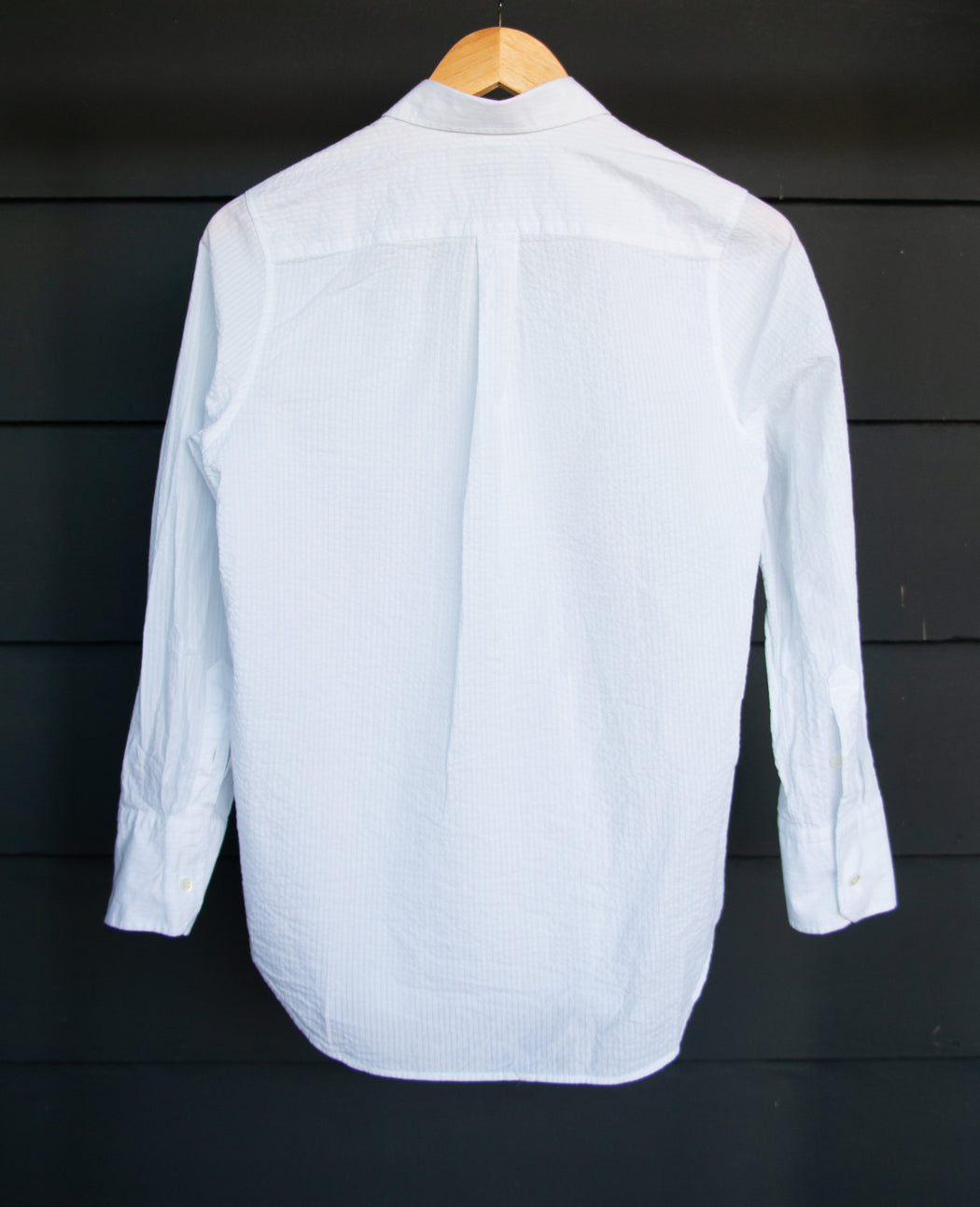 Stue White Crinkle Cotton Shirt
