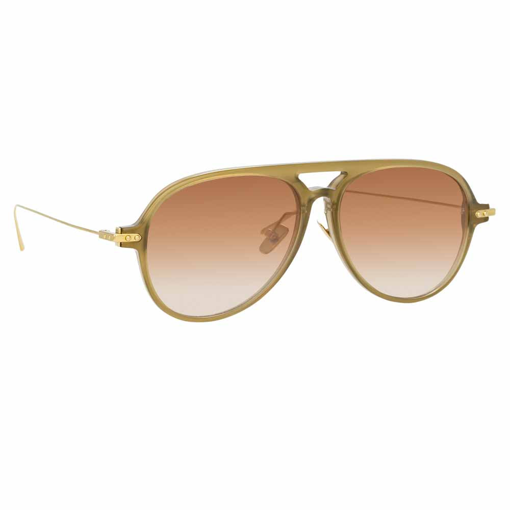 Gilles Aviator Sunglasses by Linda Farrow