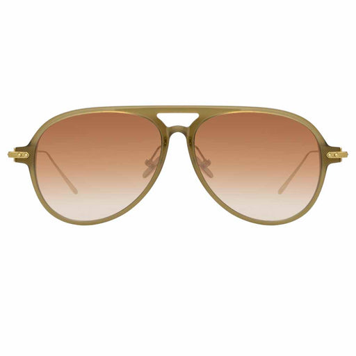 Khaki colored acetate aviator glasses