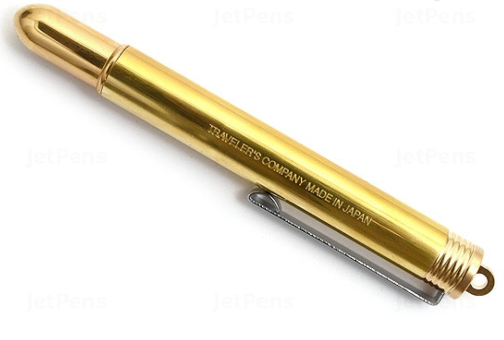 Brass fountain pen