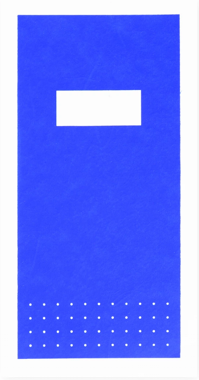 Blue Hanji notebooks with silk screened covers