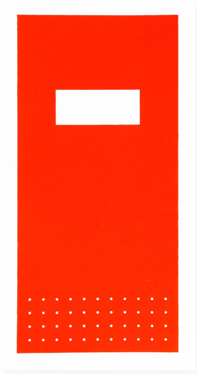 Red Hanji notebooks with silk screened covers