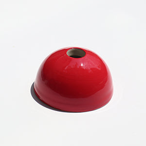 Red Hemisphere Magnetic Ceramic Paperweight
