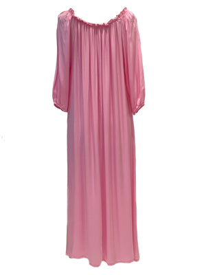 One size off the shoulder soft satin long dress