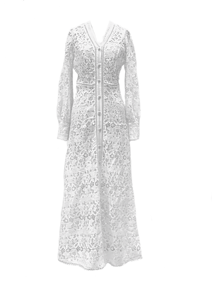 Corded lace long dress