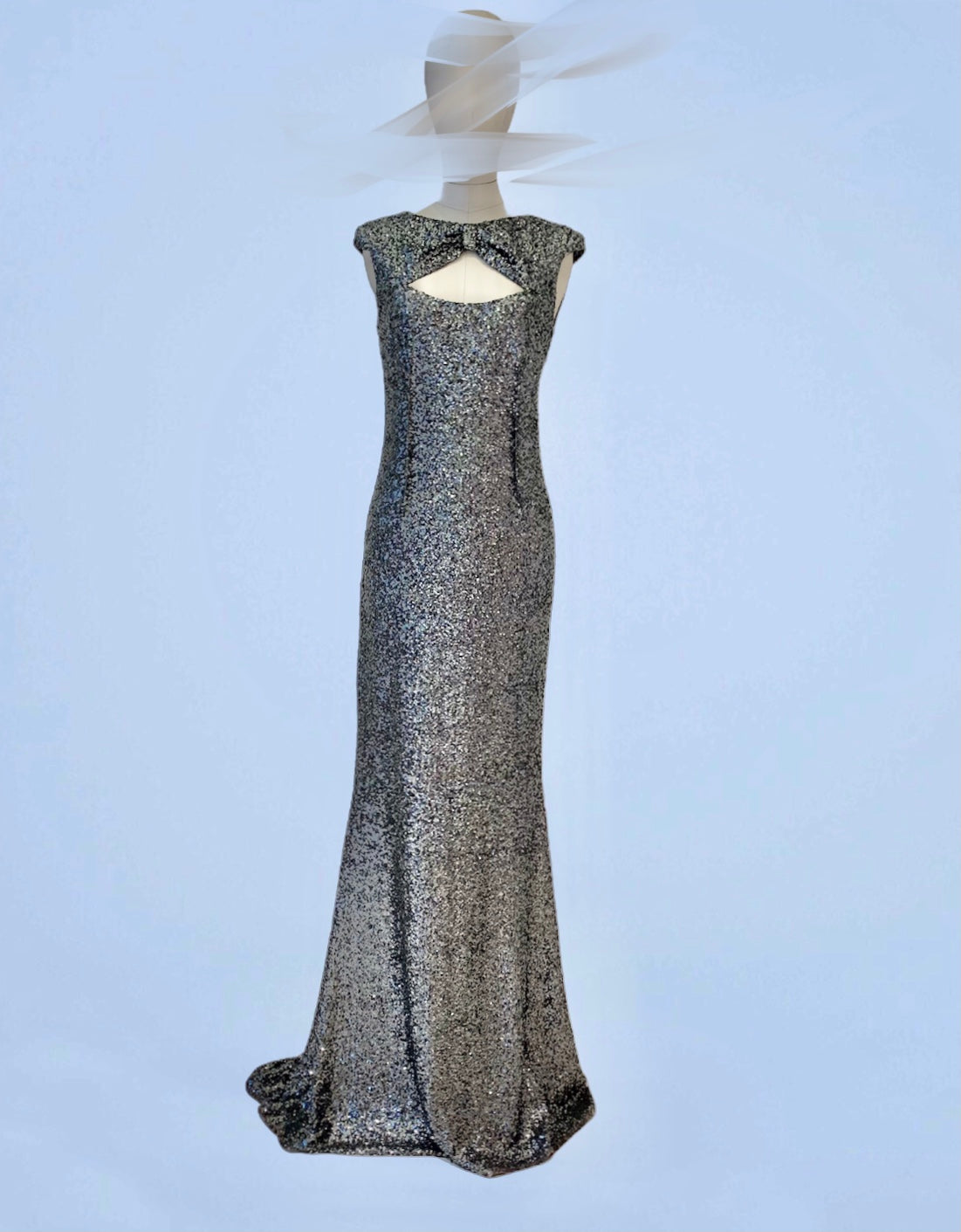Tarnished silver long dress