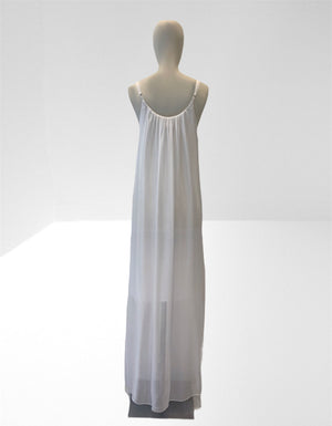 White long slip dress