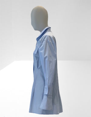 Pale blue cotton fitted shirt