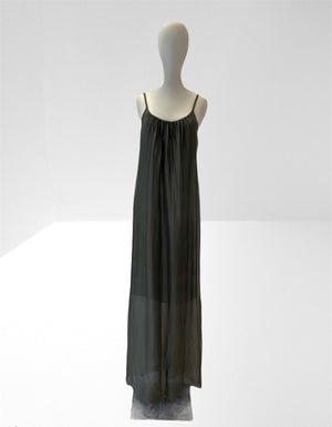 Khaki long slip dress