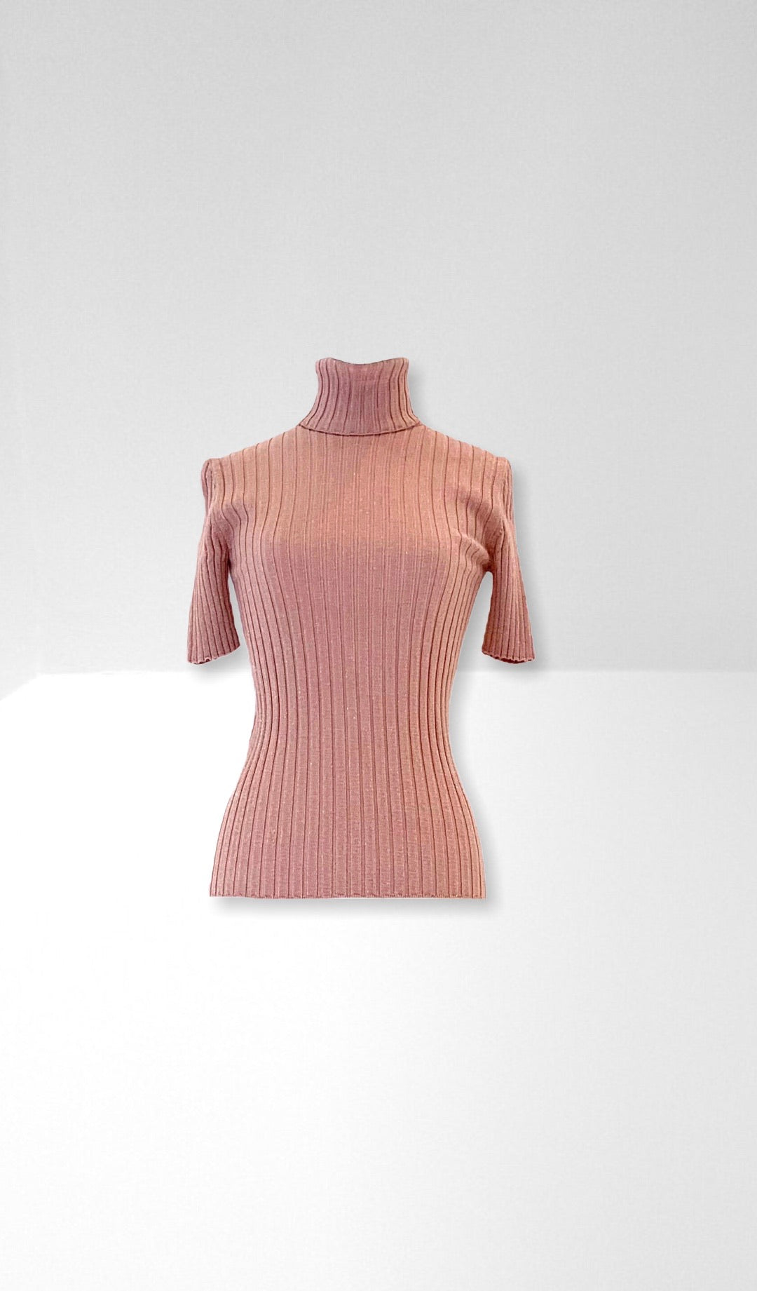 Nude roll neck top