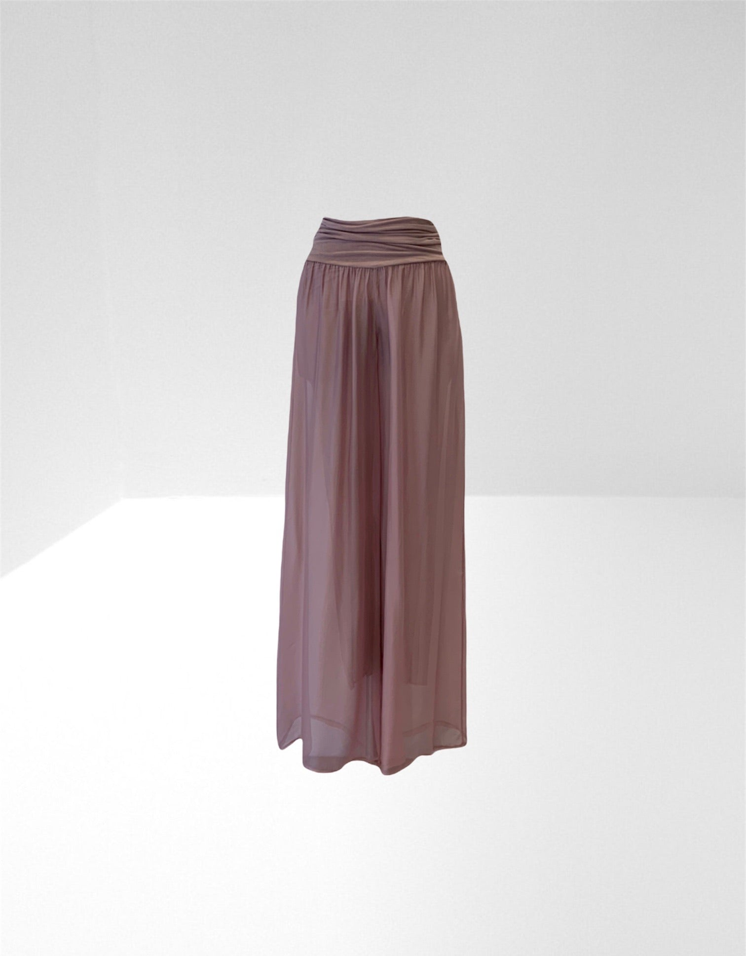 Old rose silk trouser