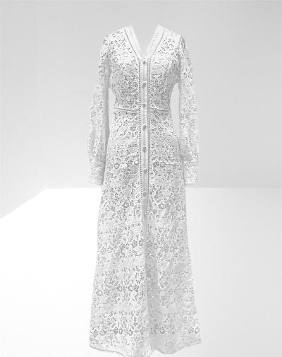 Guipure lace long dress