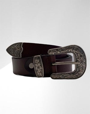 Leather western cowgirl belt
