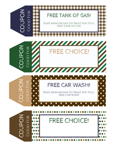 Rustic Teenager Printable Coupon Book perfect for Teens and Tweens!