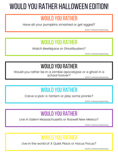 100 Halloween Would You Rather Questions