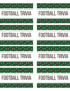 48 Football Trivia for Kids Printable Cards