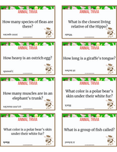 Load image into Gallery viewer, Animal Trivia for Kids Cards