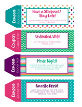 Load image into Gallery viewer, Teenager Printable Coupon Book perfect for Teens and Tweens!