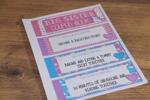 Big Sister Coupon Book