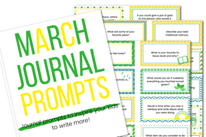 40 March Journal Prompts