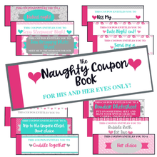 Load image into Gallery viewer, Naughty Coupon Book