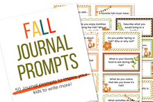 Load image into Gallery viewer, 50 Fall Journal Prompts