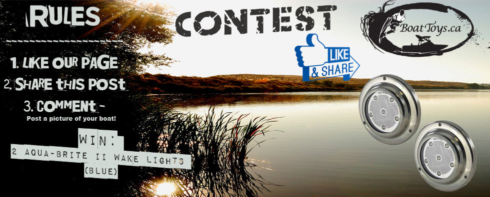 Facebook Contest - Win 2 Aqua-Bright (Blue) Underwater lights!