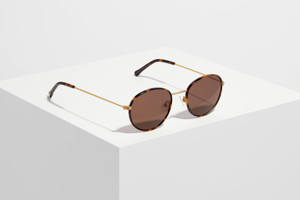 Walsh · Brushed Gold + Tortoise