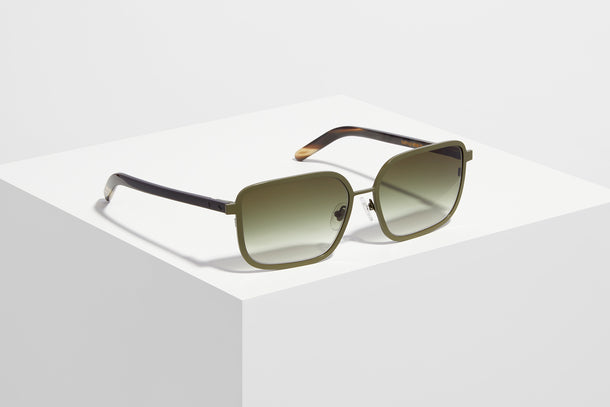 Collection V · Metal/Horn · Olive/Dark Tortoise
