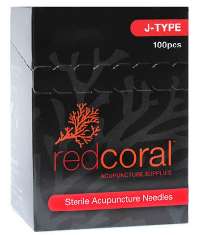 Red Coral J-Type Acupuncture Needles