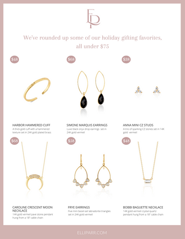 Elli Parr handmade jewelry holiday gift guide Vermont