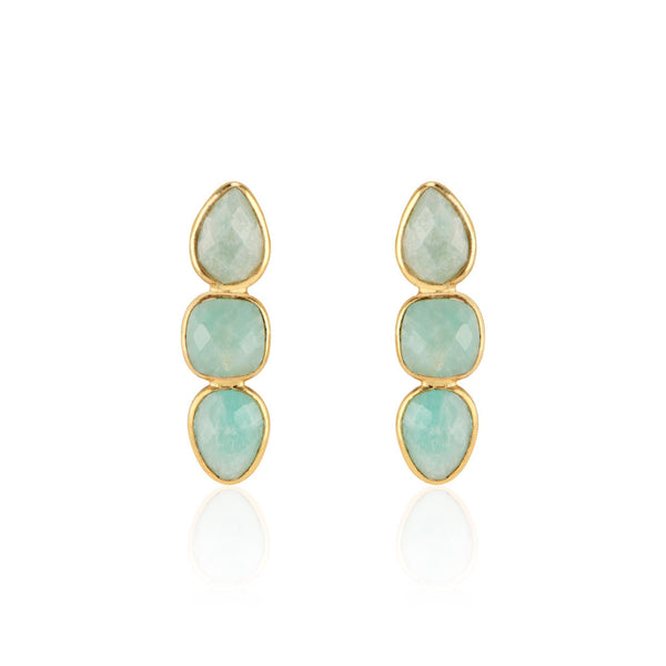 Alexa Drop Earrings | Amazonite - elliparr