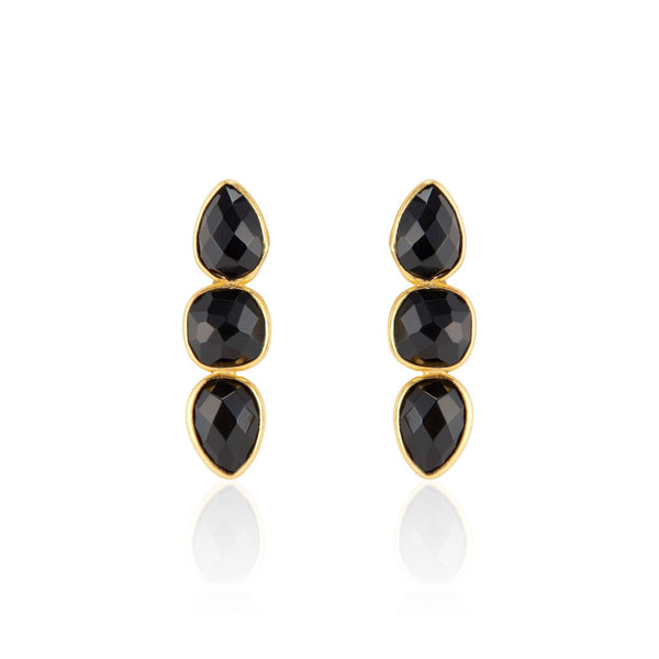 Alexa Drop Earrings | Black Onyx - elliparr