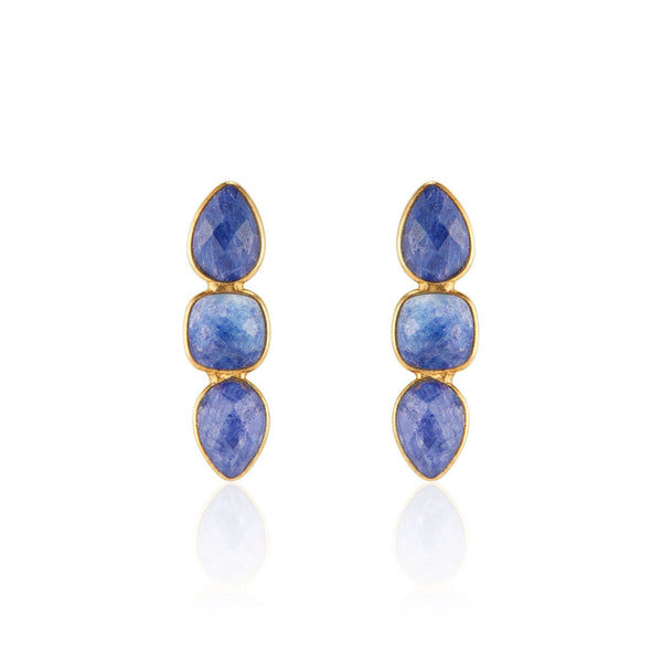 Alexa Drop Earrings | Blue Sapphire - elliparr