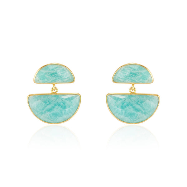 Amanda Earrings | Amazonite - elliparr