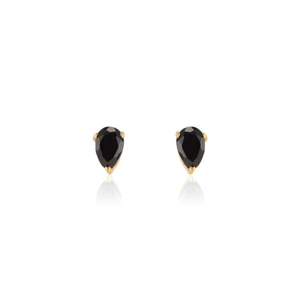 Deco Mini Studs | Black Onyx