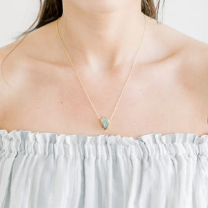 Blake Teardrop Necklace | Labradorite - elliparr