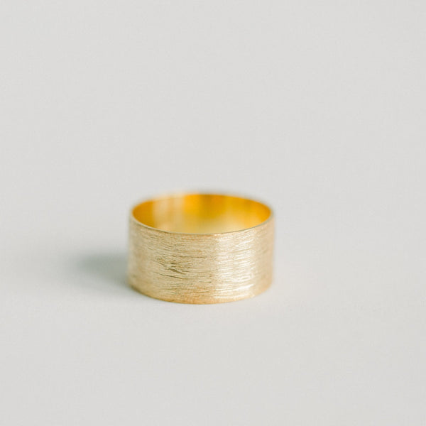 Brushed Gold Ring - elliparr