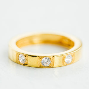 CZ Gold Band - elliparr