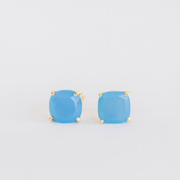 Emmy Studs | Blue Chalcedony - elliparr