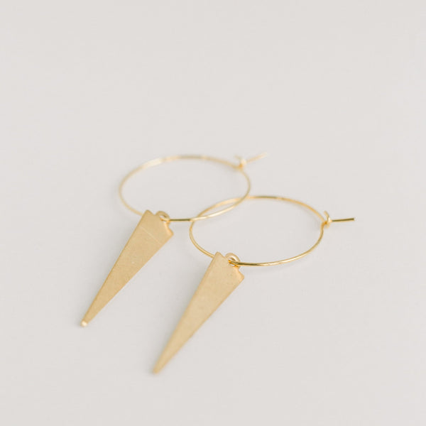 Gold Fighter Earrings - elliparr