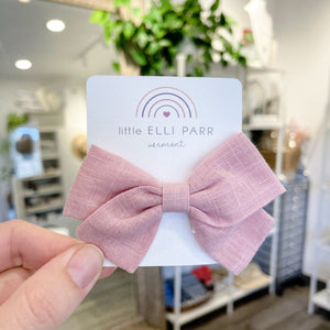 Kids Pink Hair Bow - elliparr