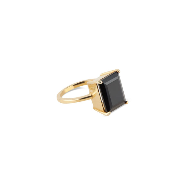 Kyle Gold Ring | Black Onyx - elliparr