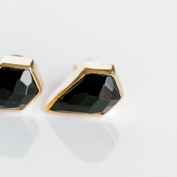 London Studs | Black Onyx - elliparr