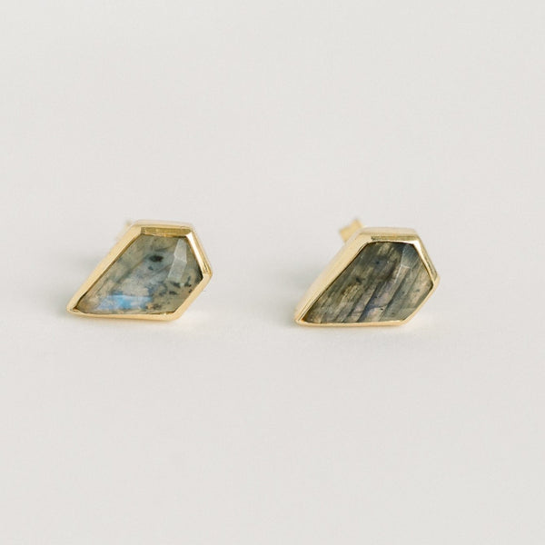 LONDON STUDS | LABRADORITE - elliparr