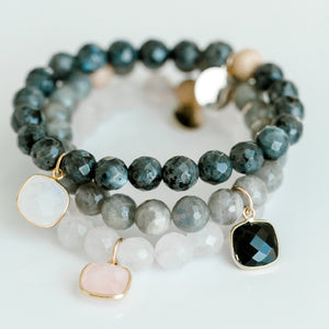 Luxe Beaded Bracelet | Rose Quartz - elliparr
