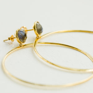 Melody Hoops | Labradorite - elliparr